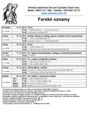 13.10.2013 Farské oznamy -