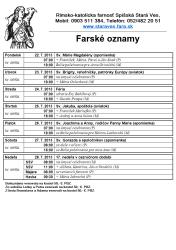 21.7.2013 Farské oznamy -