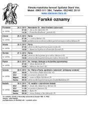 23.6.2013 Farské oznamy -