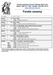 7.7.2013 Farské oznamy -